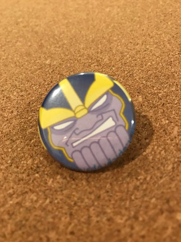 Marvel Thanos Pin Back Button