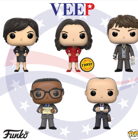 Funko Pop Television Veep Set of 5 with Chase