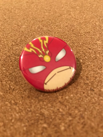 Marvel Sunfire Pin Back Button