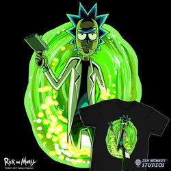 Rick and Morty Shadow Rick Black Tee