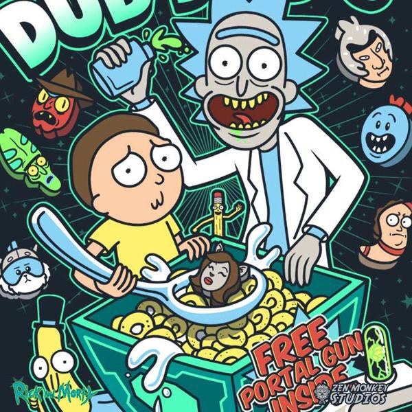 Rick and Morty Wubba Lubb Dub Dub's Navy Tee
