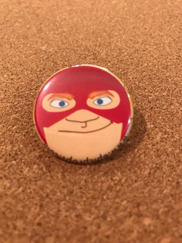 DC Comics The Flash Pin Back Button
