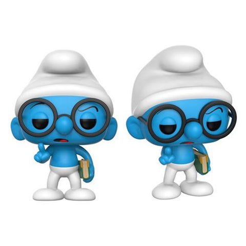 Funko Pop Animation Smurfs Brainy Smurf