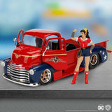 DC Bombshells Wonder Woman Chevy Pickup 1:24 Scale Hollywood Rides Diecast Vehicle