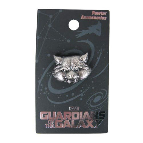 Guardians of the Galaxy Rocket Raccoon Pewter Lapel Pin