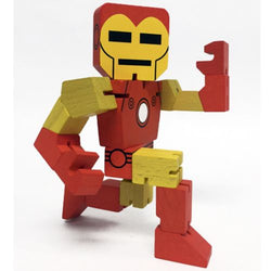 Marvel Wood Warriors Iron Man Action Figure