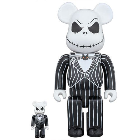 Bearbrick The Nightmare Before Christmas Jack Skellington 100% and 400% Set