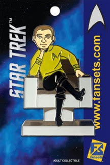 Fansets Star Trek Captain Kirk in Chair Enamel Pin