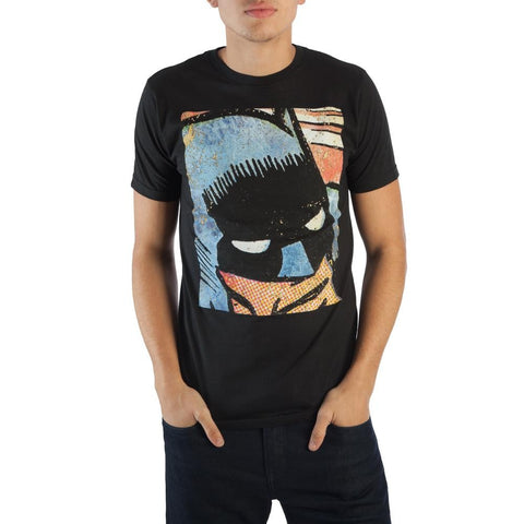 DC Batman Vintage Comic Face Black Tee