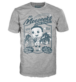 Funko Pop Tees Rick and Morty Mr. Meeseeks Golf T-Shirt - Soft Grey