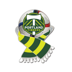 MLS Portland Timbers Scarf and Ball Enamel Pin