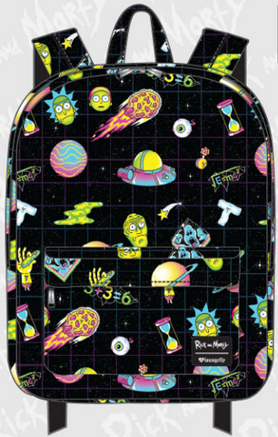 Loungefly Rick and Morty All Over Print Backpack