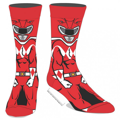 Power Rangers Red Ranger 360 Character Socks