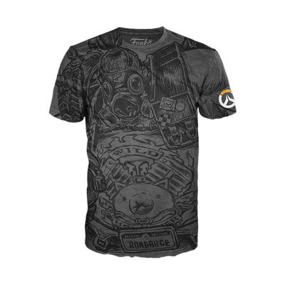 Funko Tees Overwatch - Roadhog Jumbo Gray Tee