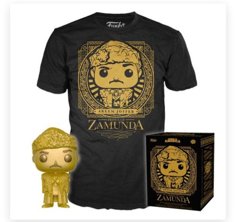 Funko Pop & Tee Movies Coming to America - Prince Akeem (Gold)