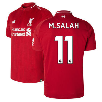 Mohamed Salah Liverpool New Balance 2018/19 Home Replica Player Jersey – Red