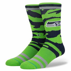 Stance NFL Seattle Seahawks Camo Stripe Crew Socks