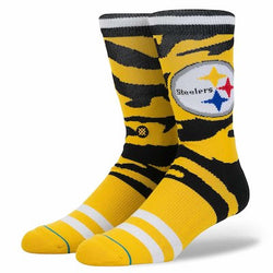 Stance NFL Pittsburgh Steelers Camo Stripe Crew Socks