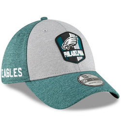 Philadelphia Eagles New Era 2018 NFL Sideline Road Official 39THIRTY Flex Hat – Heather Gray/Midnight Green