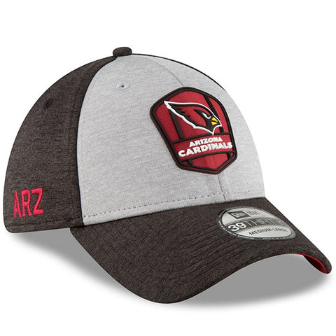 Arizona Cardinals New Era 2018 NFL Sideline Road Official 39THIRTY Flex Hat – Heather Gray/Black
