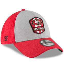 San Francisco 49ers New Era 2018 NFL Sideline Road Official 39THIRTY Flex Hat – Heather Gray/Scarlet