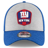New York Giants New Era 2018 NFL Sideline Road Official 39THIRTY Flex Hat – Heather Gray/Royal