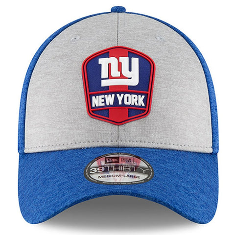 timeless design 81945 27b5a ... New York Giants New Era 2018 NFL Sideline Road Official 39THIRTY Flex  Hat – Heather Gray