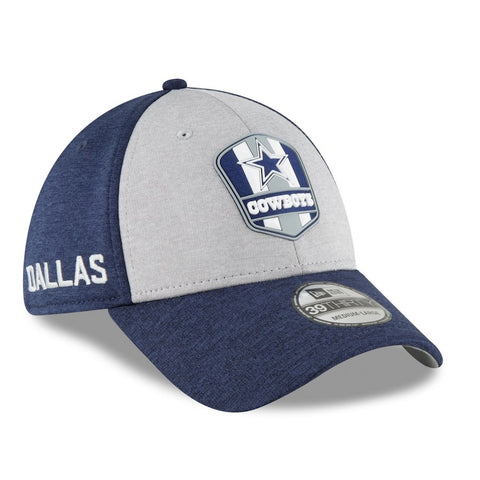 Dallas Cowboys New Era 2018 NFL Sideline Road Official 39THIRTY Flex Hat – Heather Gray/Navy