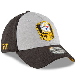 Pittsburgh Steelers New Era 2018 NFL Sideline Road Official 39THIRTY Flex Hat – Heather Gray/Black