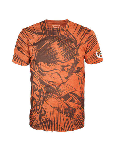 Funko Tees Overwatch - Tracer Jumbo Orange Tee