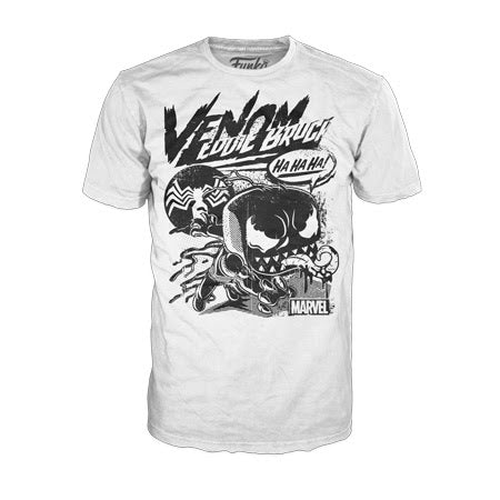Funko Pop Tees Marvel Venom Comic Collage (White)