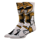 Power Rangers White Ranger 360 Character Socks