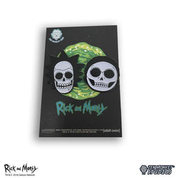 Rick and Morty Glow in the Dark X-Ray Rick and Morty Pin Set