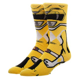 Power Rangers Yellow Ranger 360 Character Socks