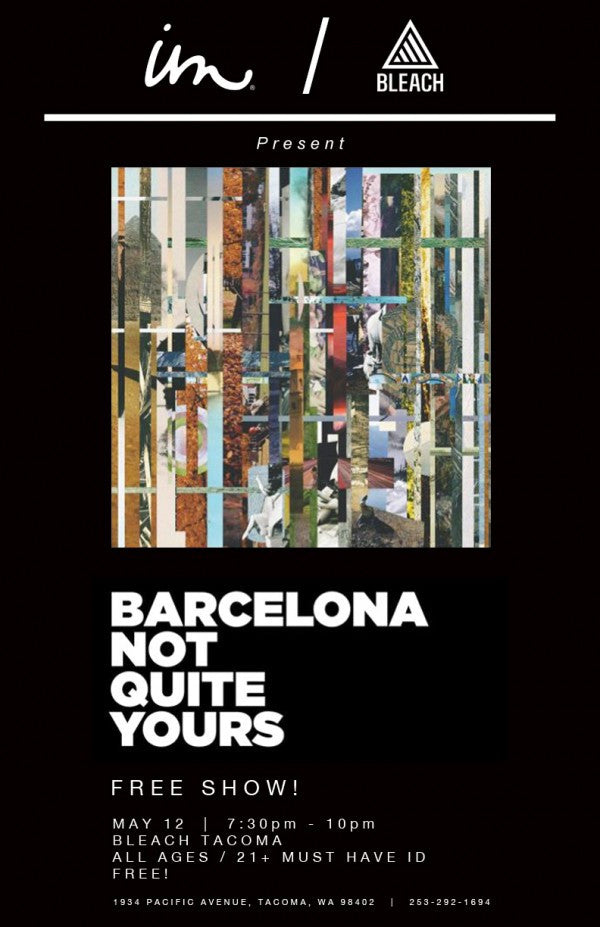 Free Show w/ Barcelona At Bleach