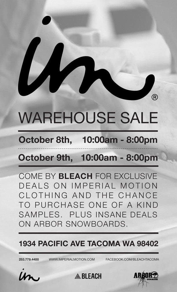 Warehouse Sale At Bleach