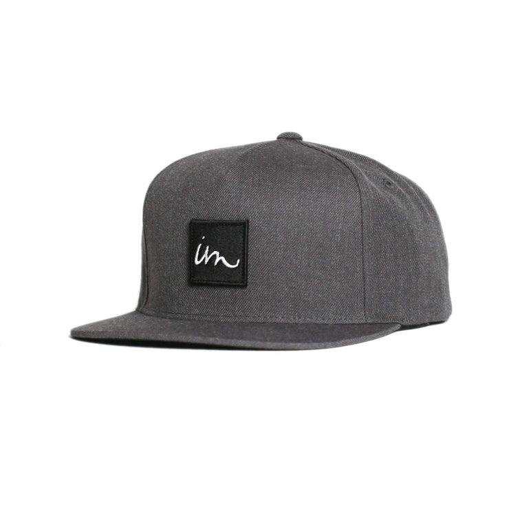 1x1 Snapback Hat Black Heather