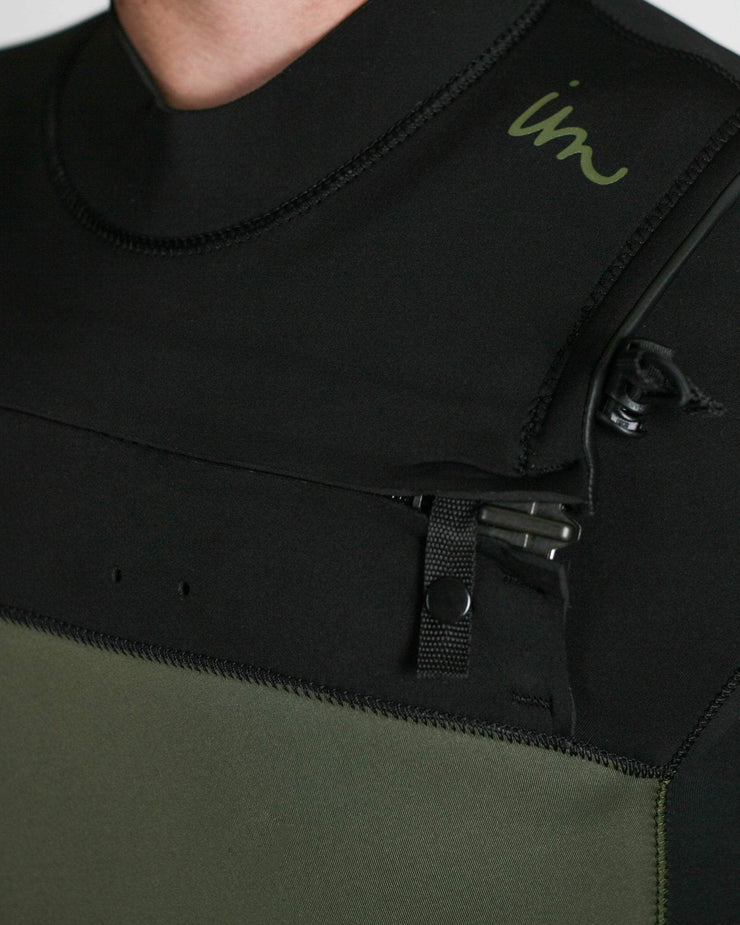 Lux Premier Chest Zip 4/3 Army Green Black