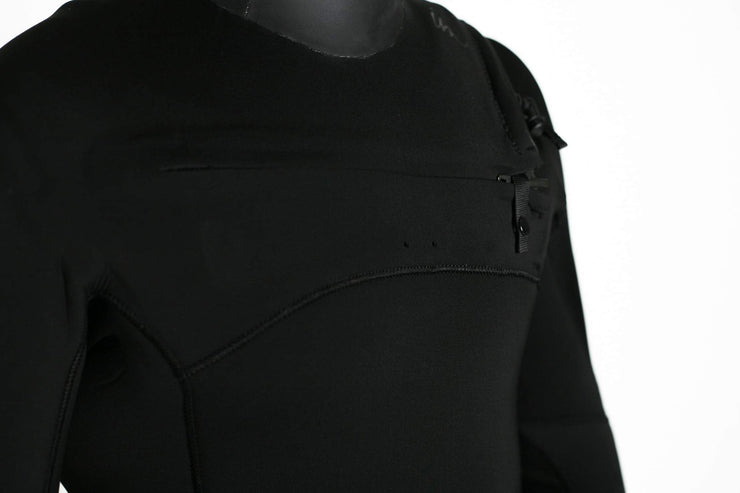 Lux Deluxe Hooded Chest Zip 5/4/3 Black