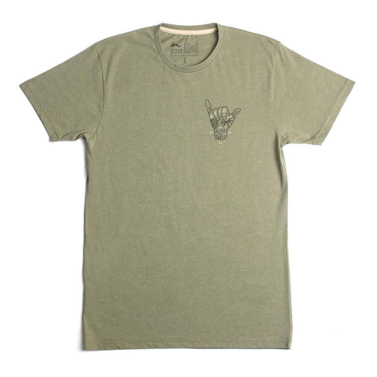 Alive & Swell Premium T-Shirt Light Olive