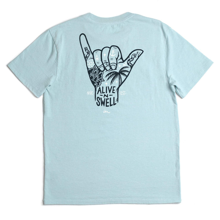 Alive and Swell Vintage T-Shirt Aqua Pigment