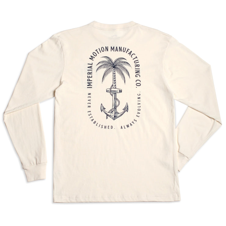 Anchors Up Premium LS T-Shirt Vintage White