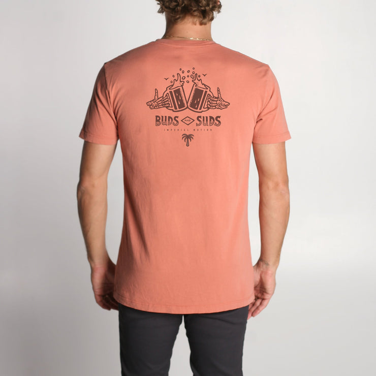 Buds and Suds Premium Pigment T-Shirt Terra Cotta