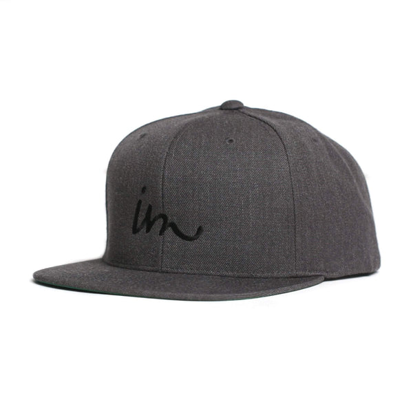 Curser Snapback Hat Charcoal Heather