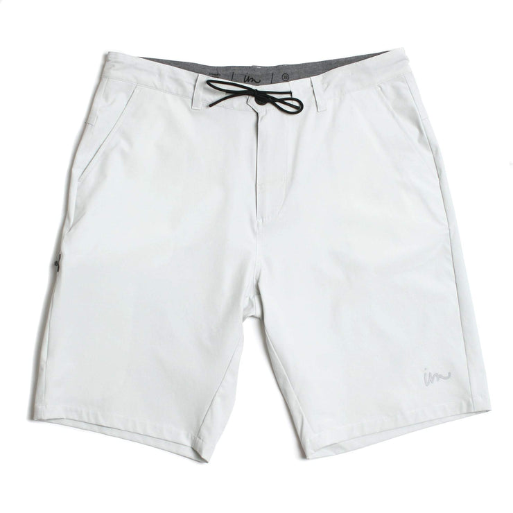 Carbon Hybrid Walkshort White Melange