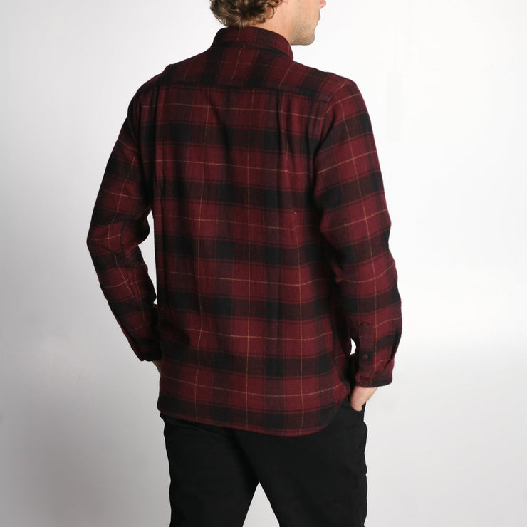 Claxton Flannel Oxblood