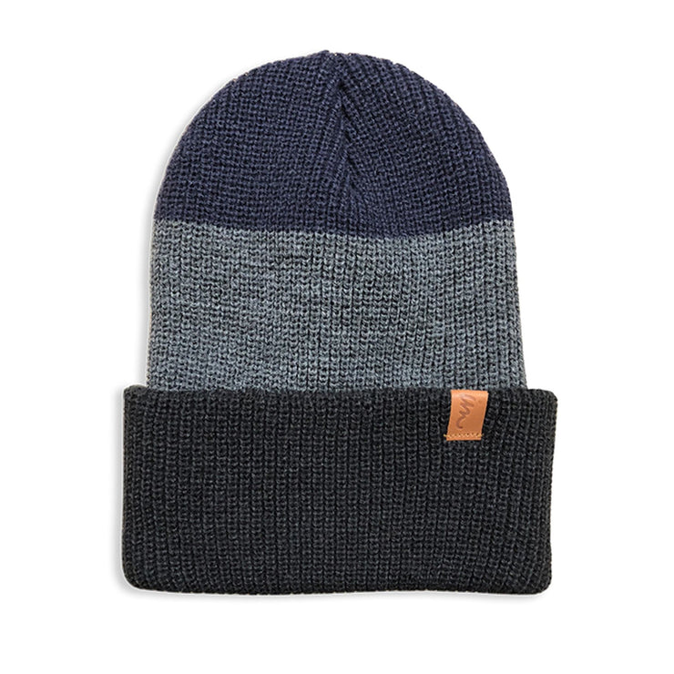 Divide Beanie Charcoal Grey Denim