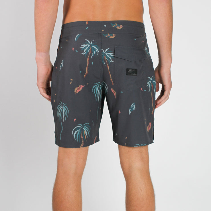 Decade Boardshort Vintage Black Palms
