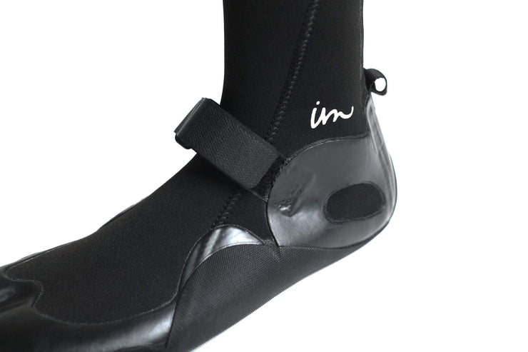 Lux 3mm Split Toe Booties Black