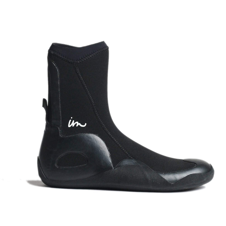 Lux 5mm Round Toe Booties Black